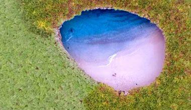 Bombalama sonucu keşfedilen büyüleyici güzellikteki plaj: Playa Del Amor