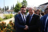 Salih Altun, KKTC Başbakanı Ersin Tatar'ı karşıladı