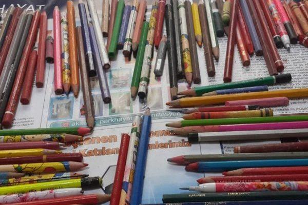Konya'da tamir edilen televizyondan 120 kalem çıktı